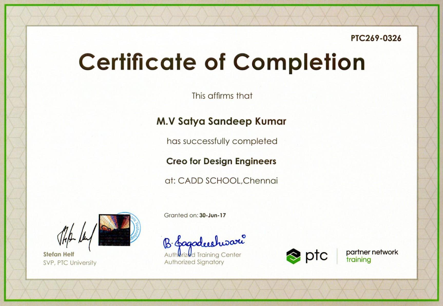 ptc international certificate certification training creo cad certifications follow cadd
